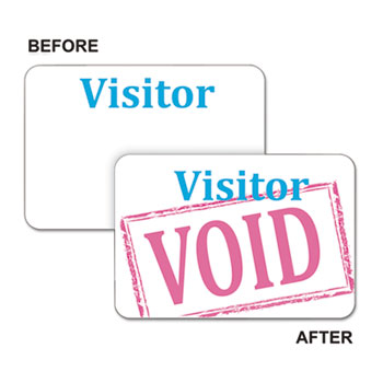 C-Line® Time's Up!® Self-Expiring Visitor Badges, One-Day Badge Thumbnail