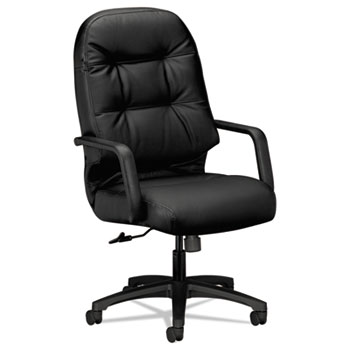 HON® Pillow-Soft® 2090 Series Leather Executive High-Back Swivel/Tilt Chair Thumbnail