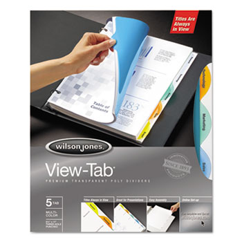 Wilson Jones® View-Tab® Transparent Index Dividers Thumbnail