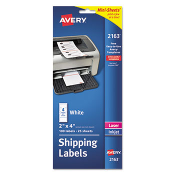 Avery® Mini-Sheets® Mailing Labels Thumbnail