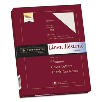 Southworth® 100% Cotton Premium Weight Linen Resume Paper Thumbnail
