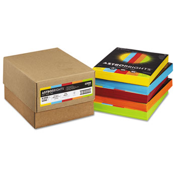 Color Paper - Five-Color Mixed Reams, 24lb, 8 1/2 x 11, 5 Colors, 1250 Sheets