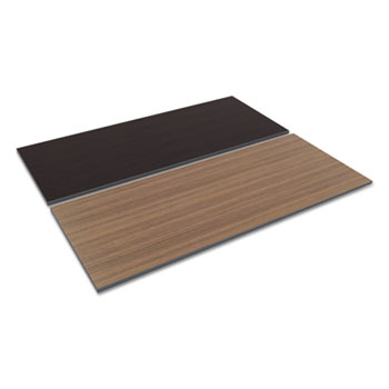 Reversible Laminate Table Top, Rectangular, 71 1/2w X 29 1/2d,  Espresso/Walnut