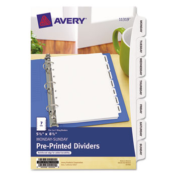 "Avery® Preprinted Tab 5 ½"" x 8 ½"" Dividers Thumbnail"