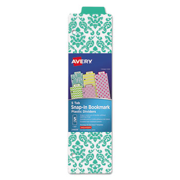 Avery® Tabbed Snap-In Bookmark Plastic Dividers Thumbnail
