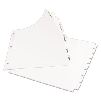 Avery® Index Maker® EcoFriendly Print & Apply Clear Label Dividers with White Tabs Thumbnail