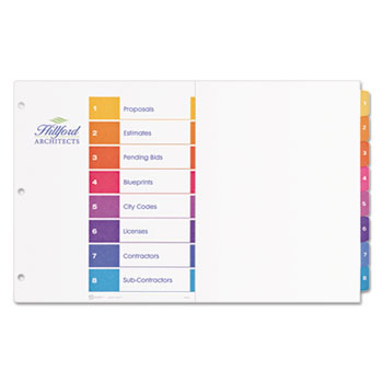 "Avery® 11"" x 17"" Ready Index® Customizable Table of Contents Multicolor Tabs Thumbnail"