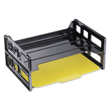 Universal® Recycled Plastic Side Load Desk Trays Thumbnail