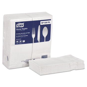 Tork® Advanced White Two-Ply Dinner Napkins Thumbnail