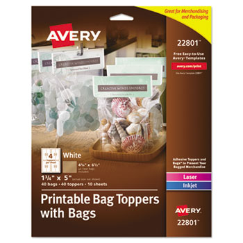 Printable Bag Toppers With Bags By Avery Ave22801 Ontimesupplies