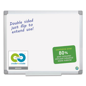 MasterVision® Earth Silver Easy-Clean Dry Erase Board Thumbnail