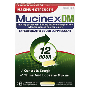 Mucinex® DM Maximum Strength Expectorant and Cough Suppressant Thumbnail