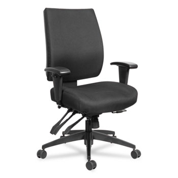 Wrigley Series 24/7 High Performance Mid-Back Multifunction Task Chair, Up to 300 lbs., Black Seat/Back, Black Base
