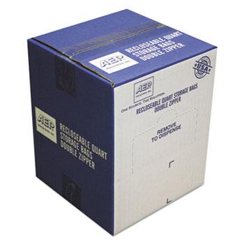Resealable Clear Plastic Storage Bags 1qt 1.75mil 7 x 8 Clear 500/Box  sc 1 th 225 & Resealable Clear Plastic Storage Bags by Handi-Bag® WBIZIP1QS500 ...