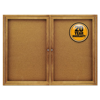 Quartet® Enclosed Indoor Cork Bulletin Board with Hinged Doors Thumbnail