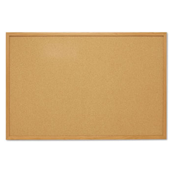 Mead® Economy Cork Board with Oak Frame Thumbnail