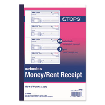 TOPS™ Money and Rent Receipt Books Thumbnail