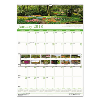 House of Doolittle™ Earthscapes™ 100% Recycled Gardens of the World Monthly Wall Calendar Thumbnail