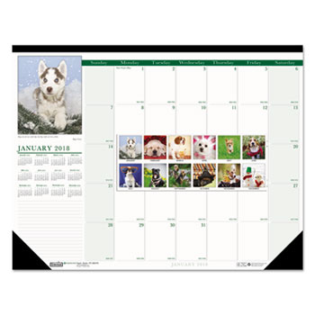House of Doolittle™ Earthscapes™ 100% Recycled Puppies Monthly Desk Pad Calendar Thumbnail