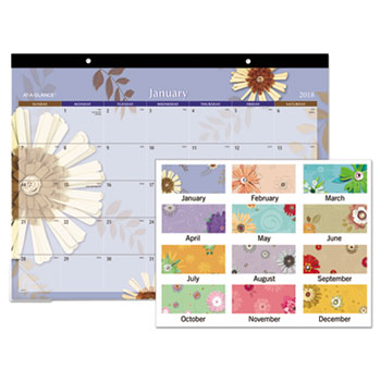 AT-A-GLANCE® Paper Flowers Desk Pad Thumbnail
