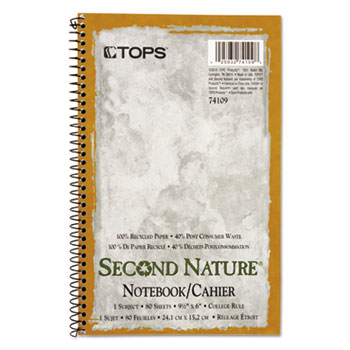 TOPS™ Second Nature® Single Subject Wirebound Notebooks Thumbnail