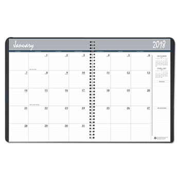 Monthly Appointment Planner, 8.5 X 11, Black/White, 2018, GSA 7530016007616,