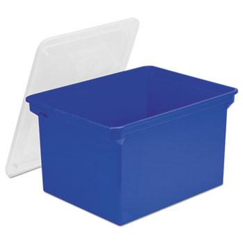 Storex Plastic File Tote Thumbnail