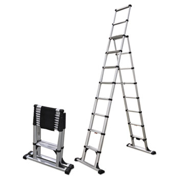 Telescopic A-Frame Ladder by Telesteps® TLP14ES | OnTimeSupplies.com