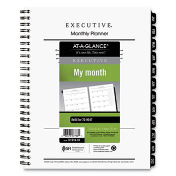 executive monthly planner refill by at a glance aag7091410