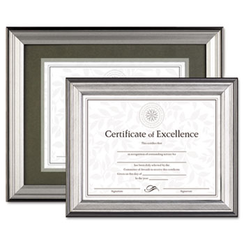 DAX® Charcoal/Nickel-Tone Document Frame Thumbnail
