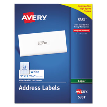Avery® Copier Mailing Labels Thumbnail