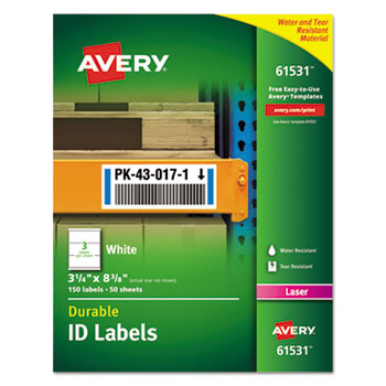 Avery® Durable Permanent ID Labels with TrueBlock® Technology Thumbnail