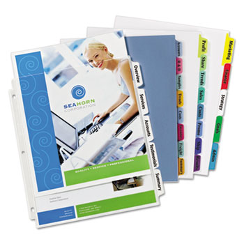 Avery® Index Maker® Print & Apply Clear Label Plastic Dividers Thumbnail