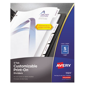 Avery® Customizable Print-On™ Dividers Thumbnail