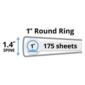 economy view binder wround rings 11 x 8 12 1 cap white office essentials
