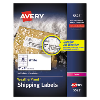 Avery® WeatherProof™ Durable Mailing Labels with TrueBlock® Technology Thumbnail