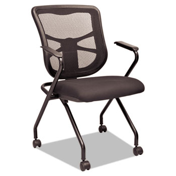 elusion mesh nesting chairs by alera aleel4914 ontimesupplies com