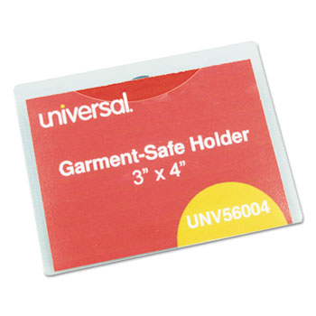 Clear Badge Holders WGarmentSafe Clips By Universal UNV - Officemax name badge template