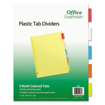 Office Essentials® Plastic Insertable Dividers Thumbnail