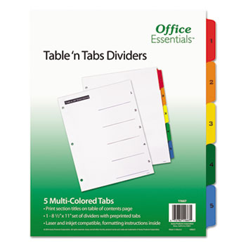 Office Essentials® Table 'n Tabs Dividers Thumbnail