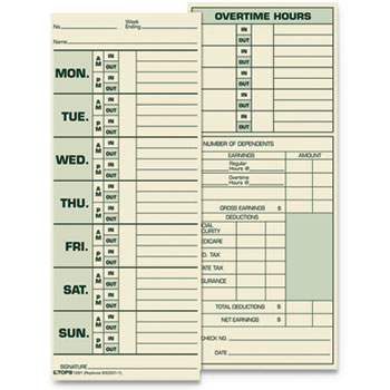 TOPS™ Time Clock Cards Thumbnail