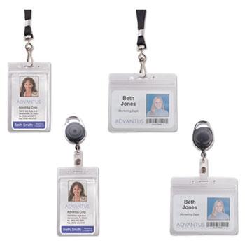 Advantus Resealable ID Badge Holders Thumbnail