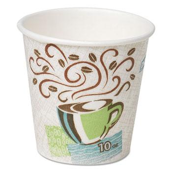 Hot Cups Paper 10oz Coffee Dreams Design 500 Carton