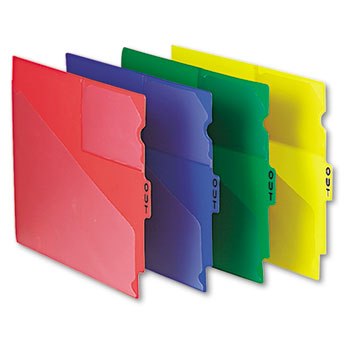 Pendaflex® Colored Poly Out Guides with Center Tab Thumbnail