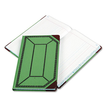 Boorum & Pease® Record and Account Book with Green and Red Cover Thumbnail