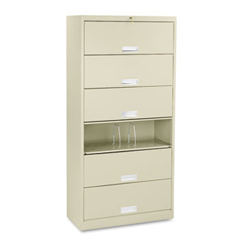 HON® Brigade® 600 Series Six-Shelf File with Receding Doors Thumbnail