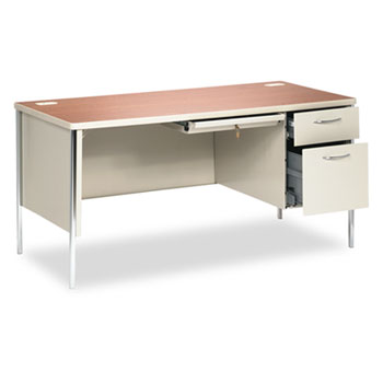 HON® Mentor® Series Single Pedestal Desk Thumbnail