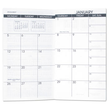 pocket size monthly planner refill by at a glance aag7090610