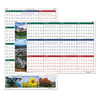 House of Doolittle™ Earthscapes™ 100% Recycled Nature Scenes Reversible/Erasable Yearly Wall Calenda Thumbnail