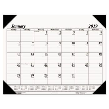 House of Doolittle™ 100% Recycled One-Color Dated Monthly Desk Pad Calendar Thumbnail